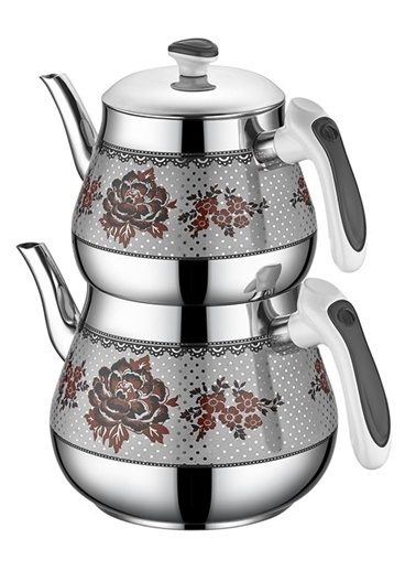 Kristal Mini Desenli Çaydanlık Siyah-Özkent